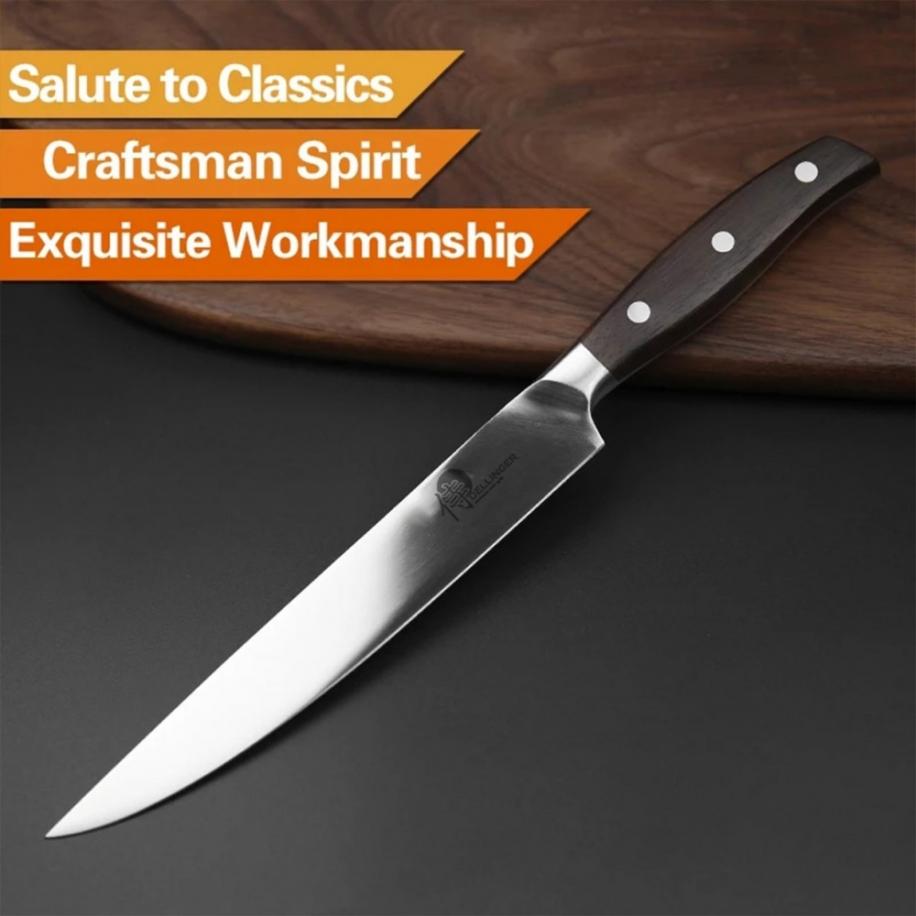 """nůž Slice / Sashimi 8"""" (208mm) plátkovací Dellinger CLASSIC Sandal Wood"""
