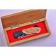 Lovecký zavírací damaškový nůž Dellinger Hunter Poplar Burl limited - série pouze 150 ks