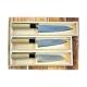 nůž Gyuto / Chef 180 mm - KIYA - Suminagashi White - Damascus 11 layers