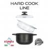 sada pro vaření v páře HARD COOK Line z litého hliníku Ø20 cm s minerálním kameninovým povrchem