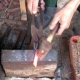 japonský nůž HIGONOKAMI mini s hnědým pouzdrem
