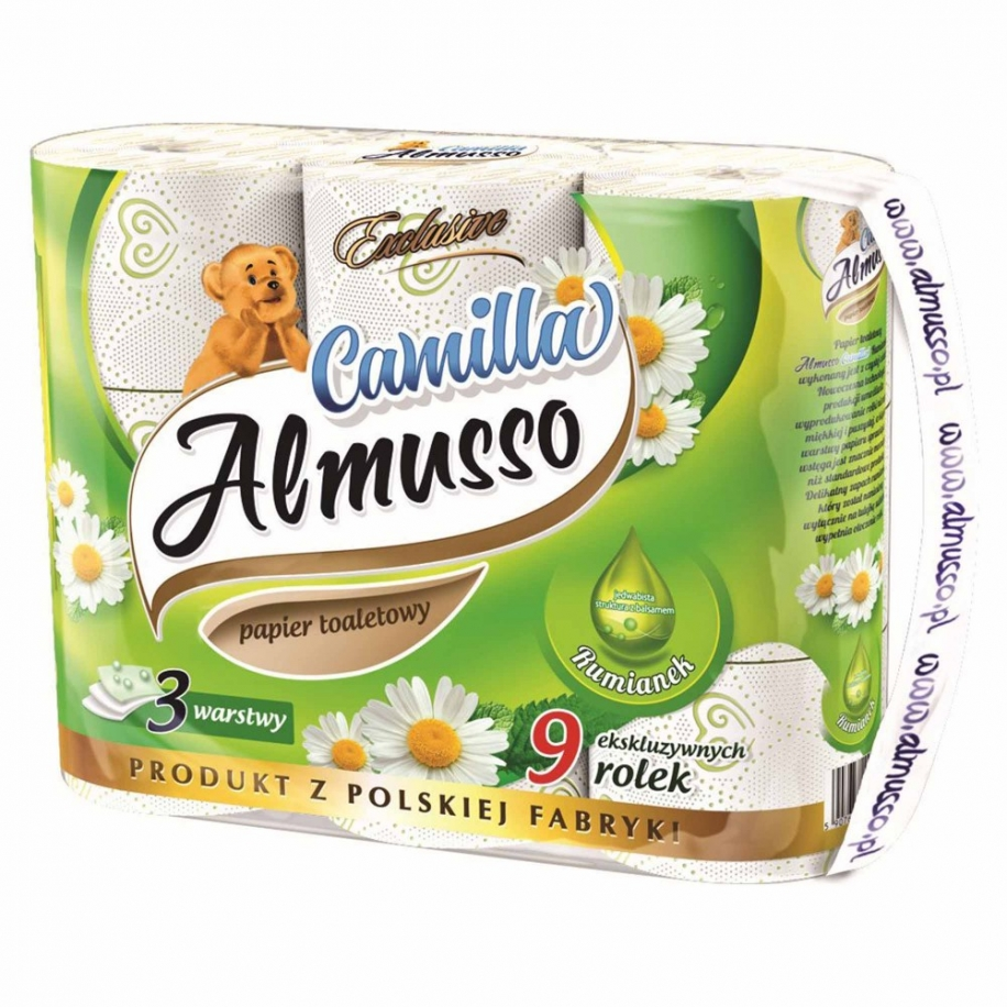 Toaletní papír Almusso Camilla 3-vrstvý 9 ks