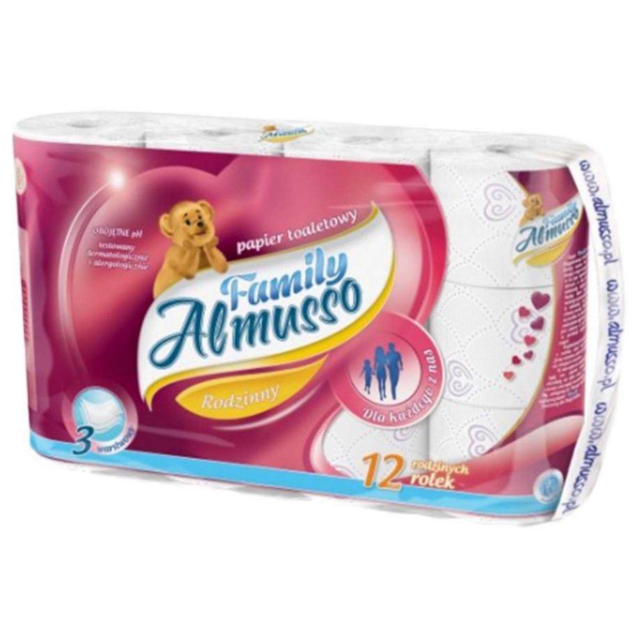 toaletní papír Almusso Family 3 vrstvý -12 ks