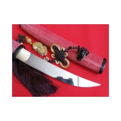 Tanto shira saya NATORI RED z překládané oceli od firmy KAWASHIMA