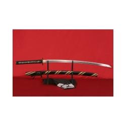 Katana BUSHIDO typ.II z vysokokarbonové oceli AISI 1045 a imitací hamonu od firmy Kawashima