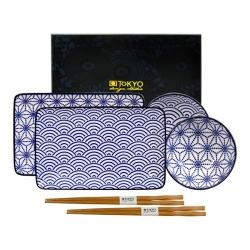 porcelánový servis na SUSHI - Nippon Blue