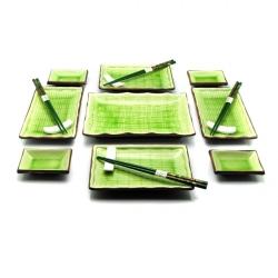 porcelánový servis na SUSHI - Midori Maxi