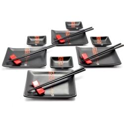 porcelánový servis na SUSHI - Black Budget Maxi II