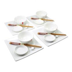 porcelánový servis na SUSHI - Shiroi