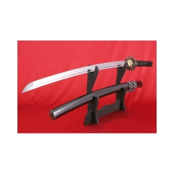 katana KOHAKU z uhlíkové oceli AISI 1095 s reálným hamonem