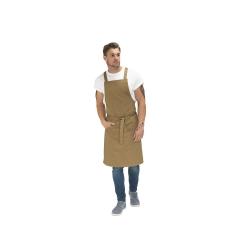 """zástěra pracovní s laclem """"Le Chef"""" Prep Crossback khaki"""