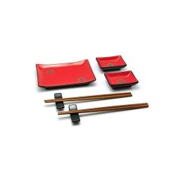 porcelánový servis na SUSHI - Akai Ruby Midi