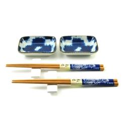 porcelánový servis na SUSHI - Burashi Blue Mini