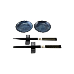 porcelánový servis na SUSHI - Cobalt Blue II Mini