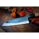 nůž Kamagata / Santoku 170 mm - KIYA - Suminagashi - Damascus 11 layers