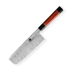 nůž na zeleninu Nakiri 180 mm - Dellinger Octagonal Full Damascus