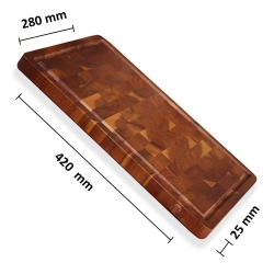 akátové prkénko 420x280x25 frézované