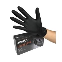 rukavice nitrilové velikost L - AMMEX černé
