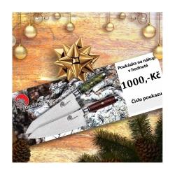Poukázka na nákup v hodnotě 1.000 Kč