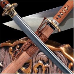 KYUSHU Japanese Sword Folded Damascus T-10 Steel