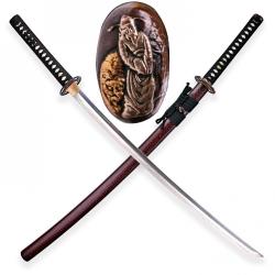 Kojiki Japanese Sword Folded Clay Tempered Damascus Steel