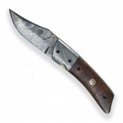 Lovecký zavírací damaškový nůž Dellinger RAGNHILD Clip