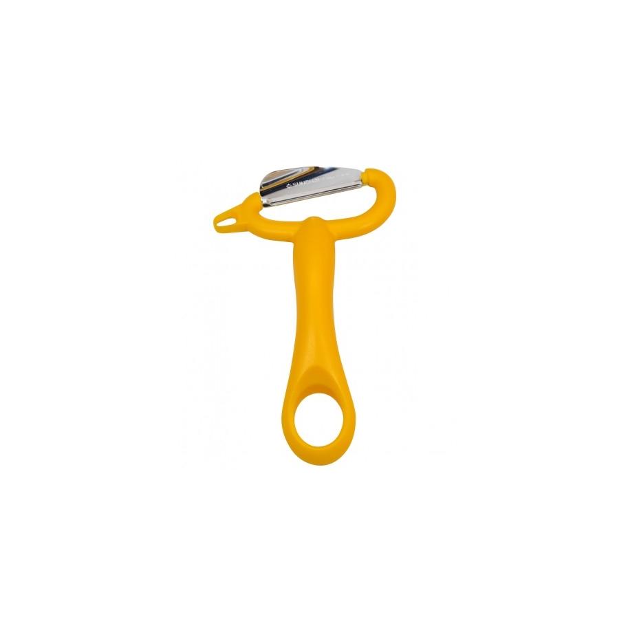 Extra ostrá škrabka s šikmou čepelí (FIT PEELER) z nerezové oceli (stainless steel ) 18-8 oranžová