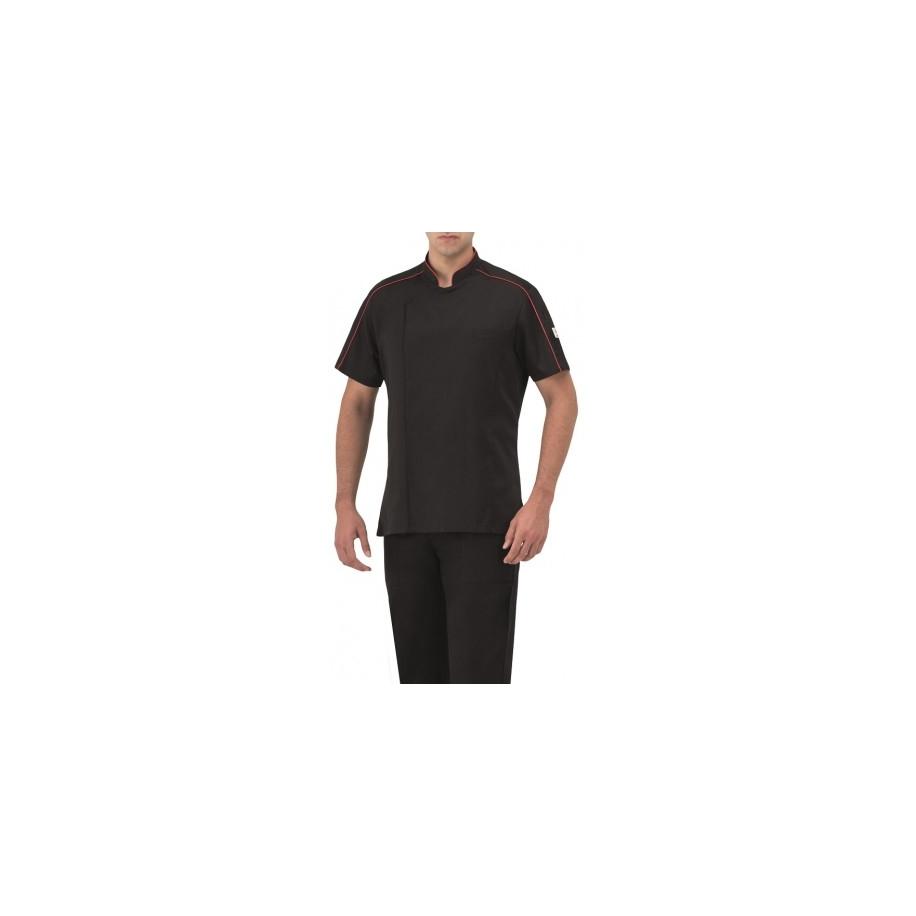 Giblor´s Antony kuchařský rondon krátký rukáv - barva černá