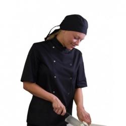 Denny's AFD ThermoCool kuchařský rondon krátký rukáv - barva černá