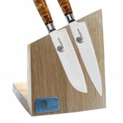 Magnetický držák na nože z dubového dřeva