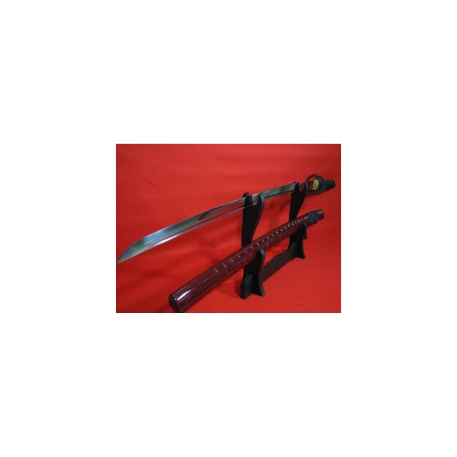 katana TOGI-KI z uhlíkové oceli AISI 1065 s vyřezávanou sayou