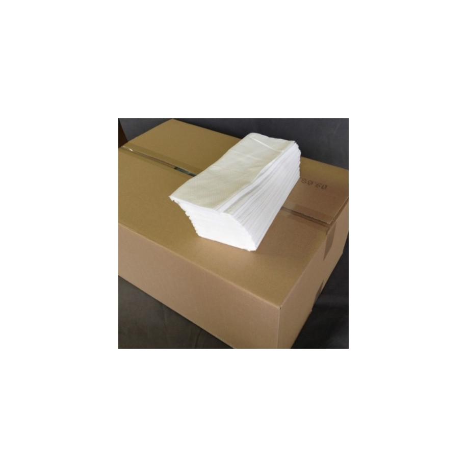 papírové ručníky ZZ bílé, dvě vrstvy, 3200 ks, 100% celulóza