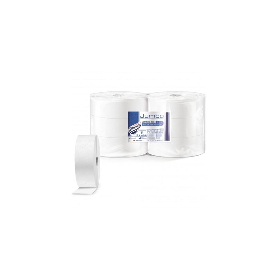 toaletní papír JUMBO 280 Almusso 250 m 2-vrstvý bílý celulóza