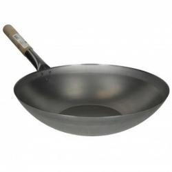 pánev WOK ocelová 33 cm - ploché dno