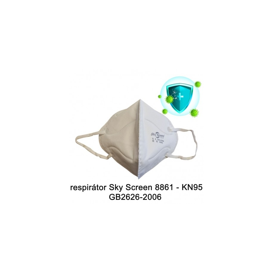 Respirátor Sky Screen 8861 & KN95 balení 10 ks