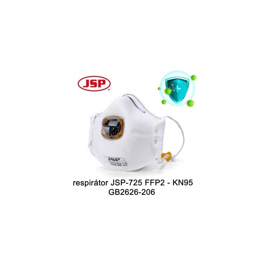 Respirátor FFP2NR & KN95 JSP-725 balení 10 ks
