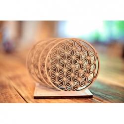 květ života - harmonizující podtácky z voňavého dřeva