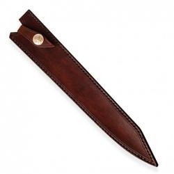 kožená Saya pro nůž Yanagiba/Sashimi - Dellinger Octagonal Full Damascus