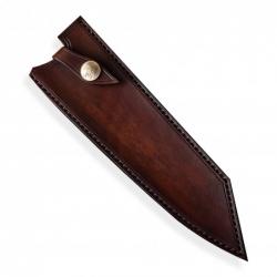 kožená Saya pro nůž Kiritsuke 210 mm - Dellinger Octagonal Full Damascus