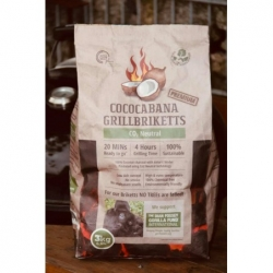 BBQ brikety ze skořápek kokosových ořechů Cococabana - pytel 3 kg
