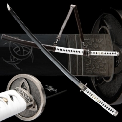 Japanese Sword Michonne's, Clay Tempered L6 Steel, Yokote