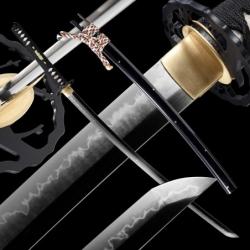 Nosegay Japanese Sword - T-10 Steel, Yokote - Choji Hamon