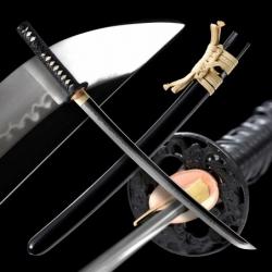 Doragonzurea Japanese Sword - T-10 Steel, Yokote - Choji Hamon