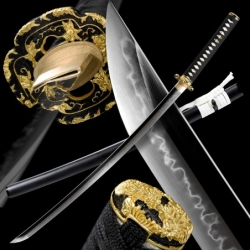 HANA Japanese Sword - T-10 Steel, Yokote - Choji Hamon