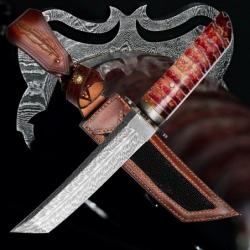 nůž TANTO Dellinger FEZÁ Randy Feather Damascus