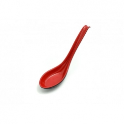 lžíce na polévku ramen, černá/červená,plast 16,3cm