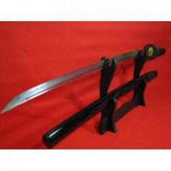 Katana UTSUKUSHI, reálný hamon, ocel T10, saya černá lesklá