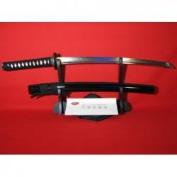 Wakizashi UTSUKUSHI, reálný hamon, ocel T10, saya černá lesklá