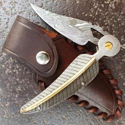 Lovecký zavírací damaškový nůž Dellinger FREYDIS Clip