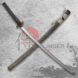 katana Omedetō Japanese Sword - T-10 Steel, Real Suguha Hamon, Yokote